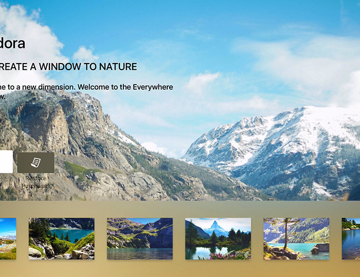 Apple TV App - VIndora - Video Postcards